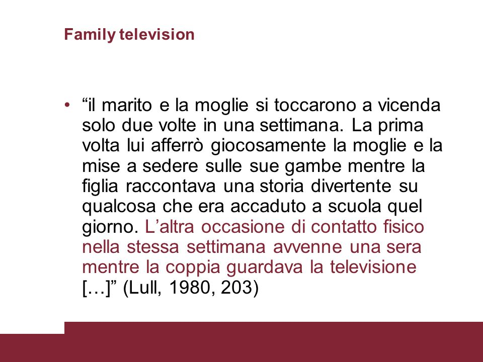 Family television
