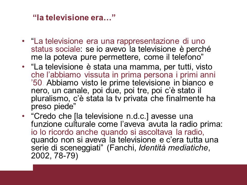 la televisione era…