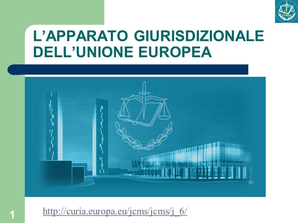 L'APPARATO GIURISDIZIONALE DELL'UNIONE EUROPEA