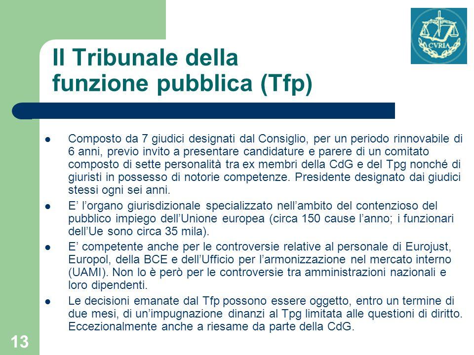 Il Tribunale della funzione pubblica (Tfp)
