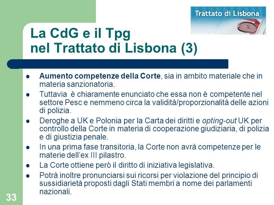 La CdG e il Tpg nel Trattato di Lisbona (3)