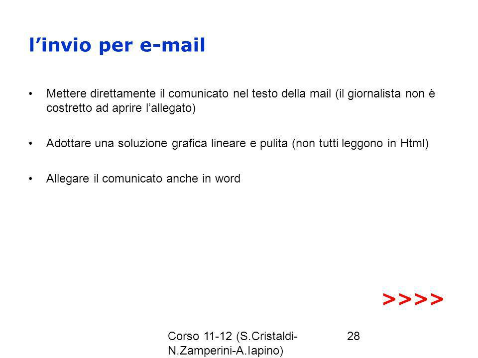 l'invio per e-mail >>>>