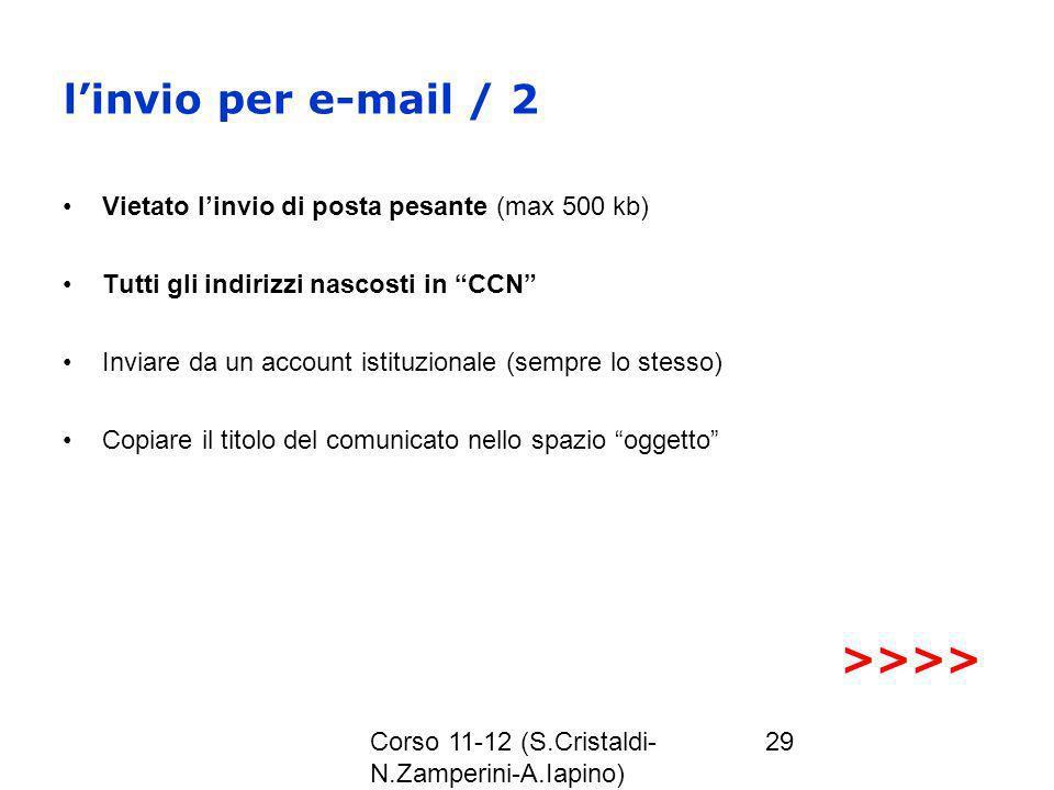 l'invio per e-mail / 2 >>>>