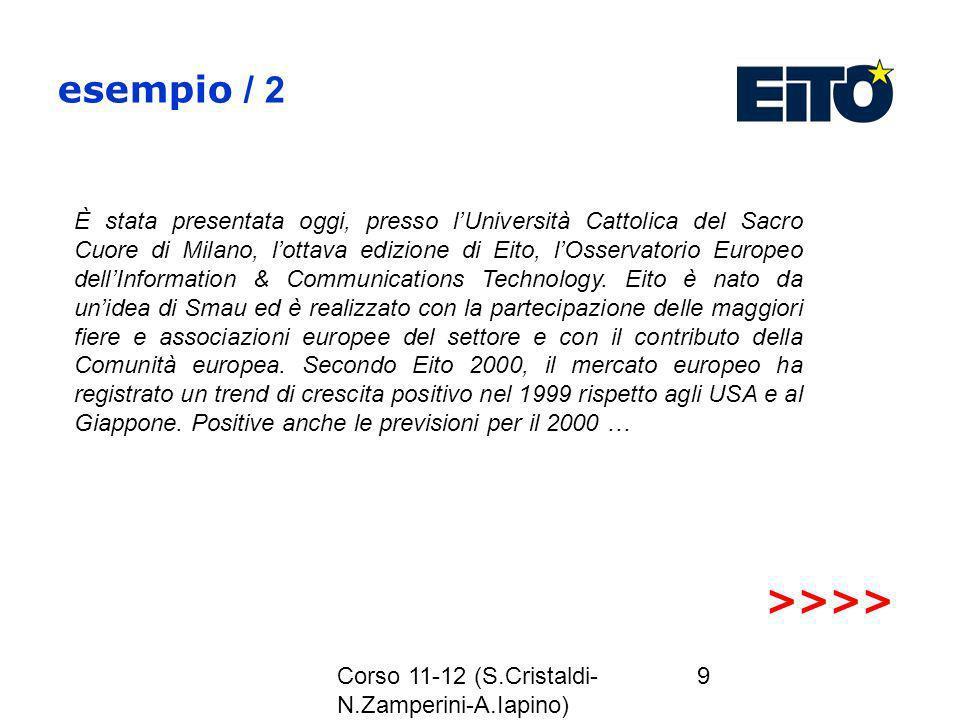 esempio / 2 >>>>