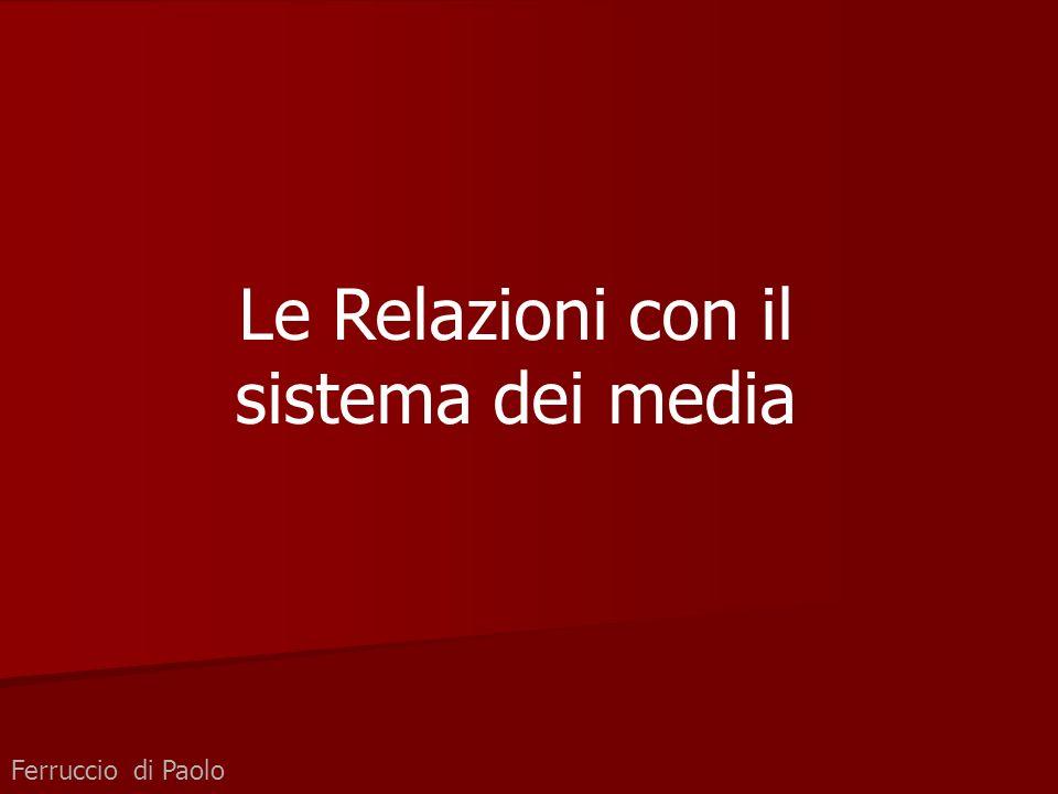 Le Relazioni con il sistema dei media