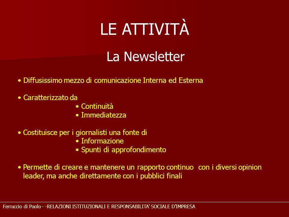LE ATTIVITÀ La Newsletter