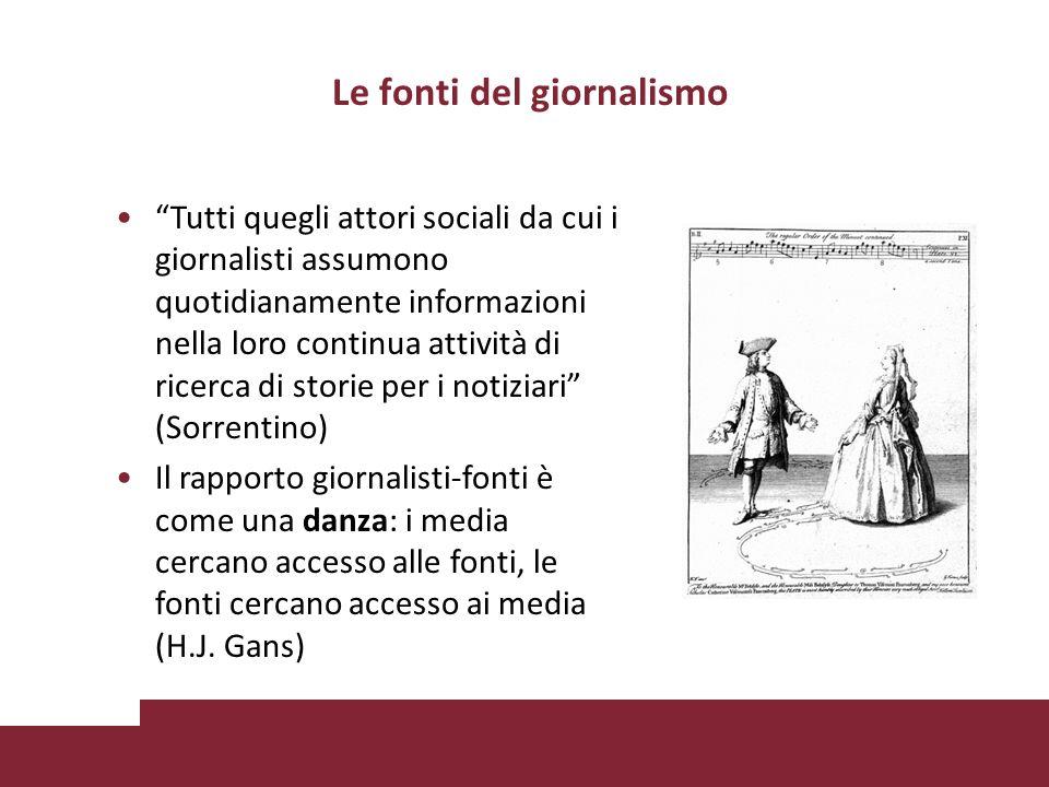 Le fonti del giornalismo