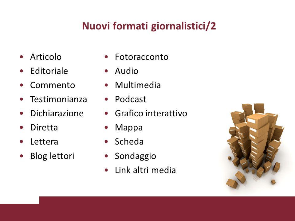 Nuovi formati giornalistici/2