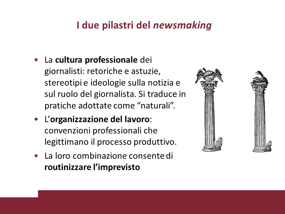 I due pilastri del newsmaking