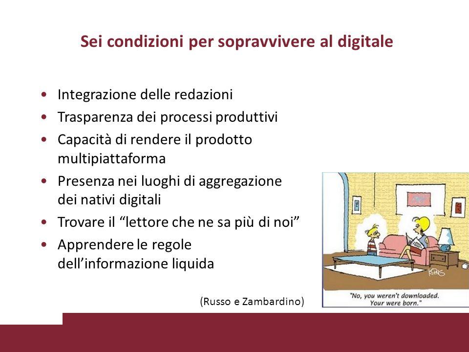 Sei condizioni per sopravvivere al digitale