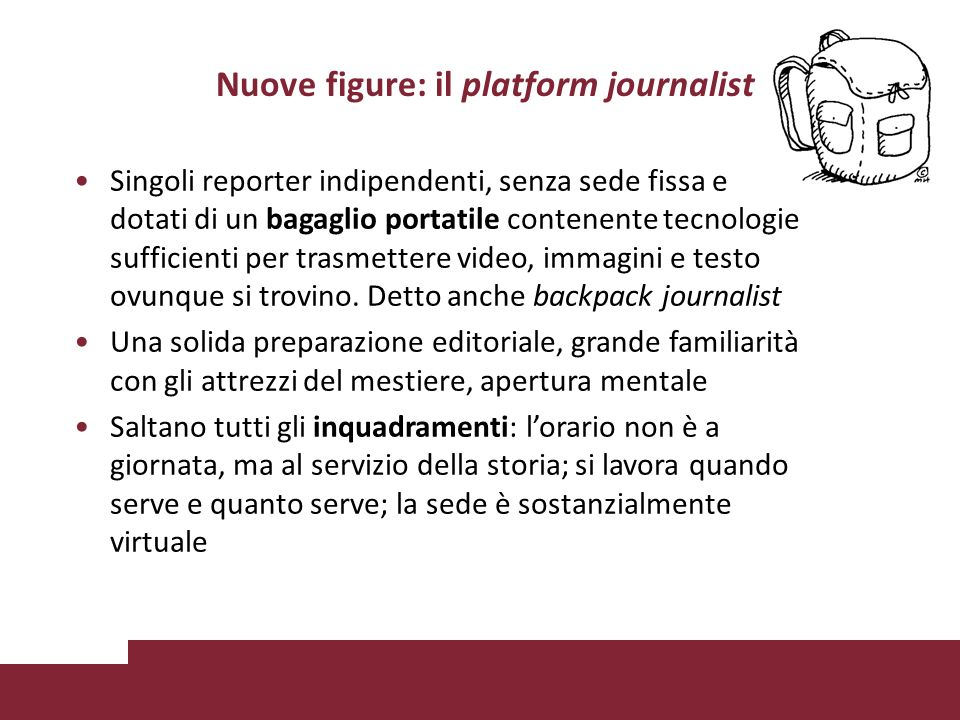 Nuove figure: il platform journalist