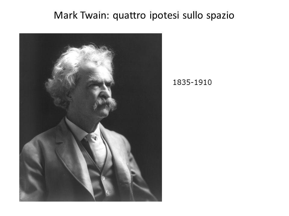 Mark Twain: quattro ipotesi sullo spazio