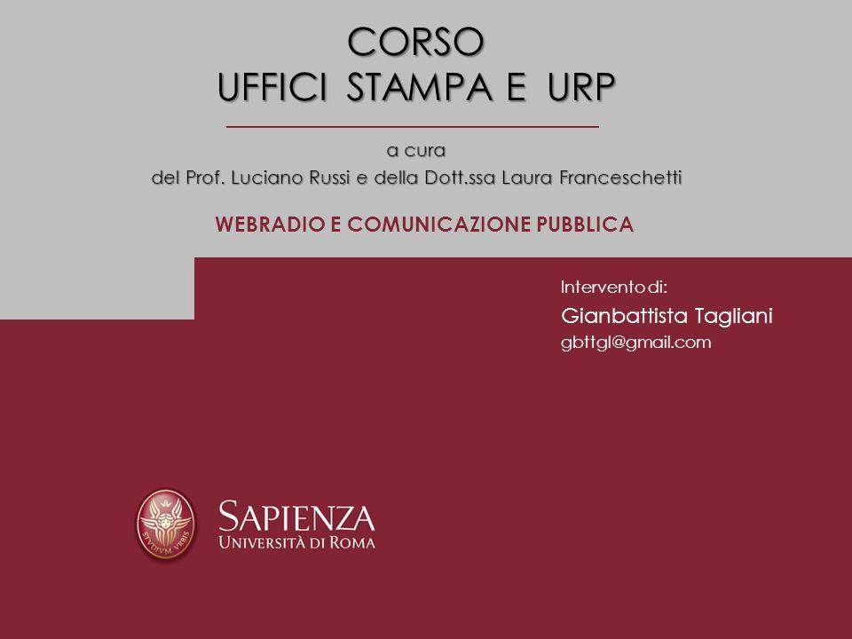 CORSO UFFICI STAMPA E URP