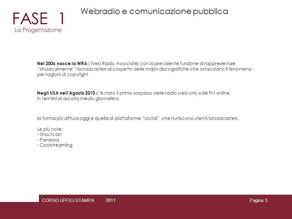 FASE 1 Webradio e comunicazione pubblica La Progettazione 3