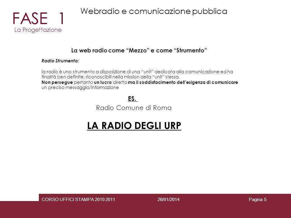 FASE 1 LA RADIO DEGLI URP Webradio e comunicazione pubblica ES.