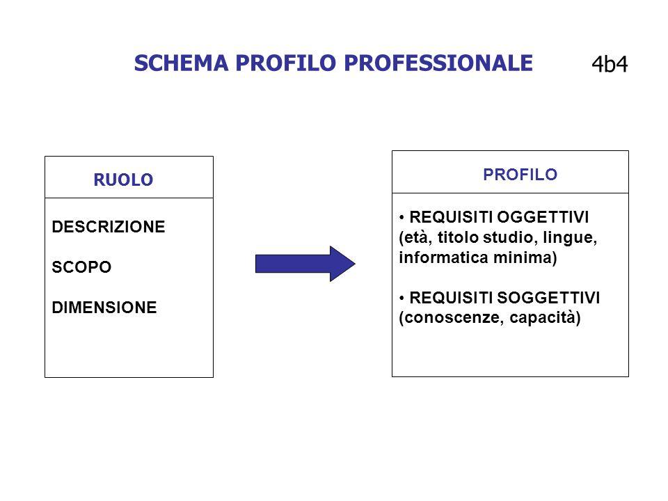 SCHEMA PROFILO PROFESSIONALE