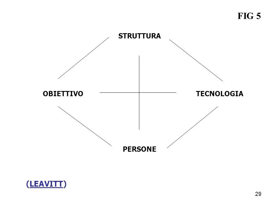 FIG 5 STRUTTURA OBIETTIVO TECNOLOGIA PERSONE (LEAVITT) 29