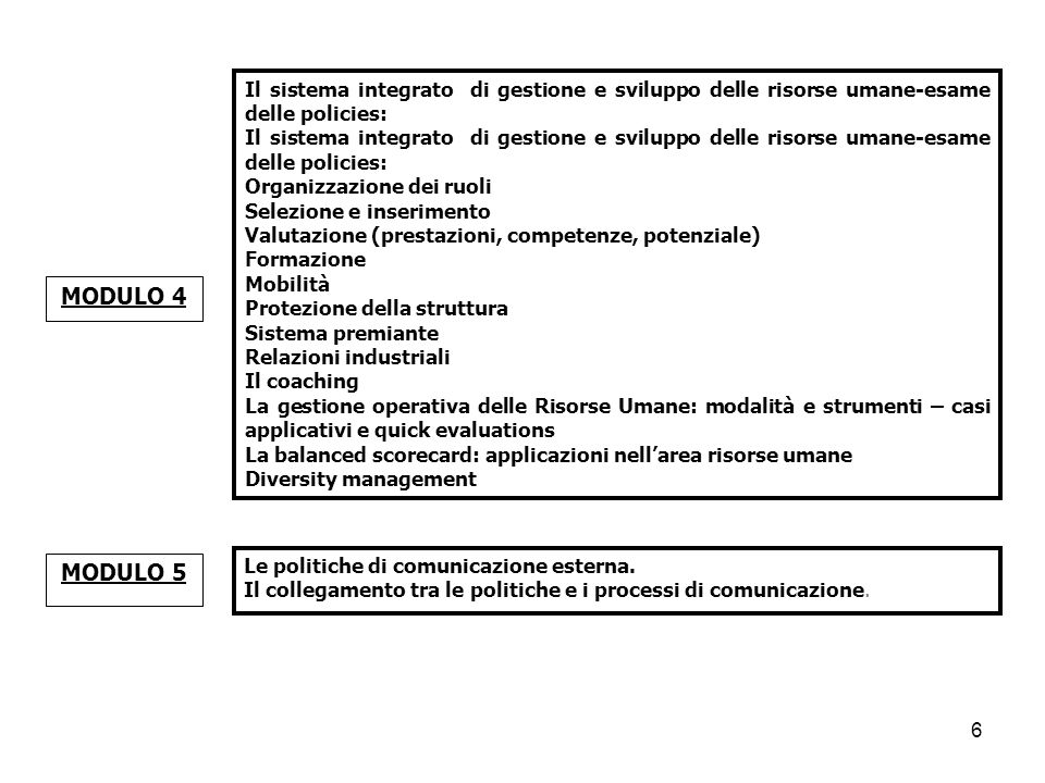 Il sistema integrato di gestione e sviluppo delle risorse umane-esame delle policies: