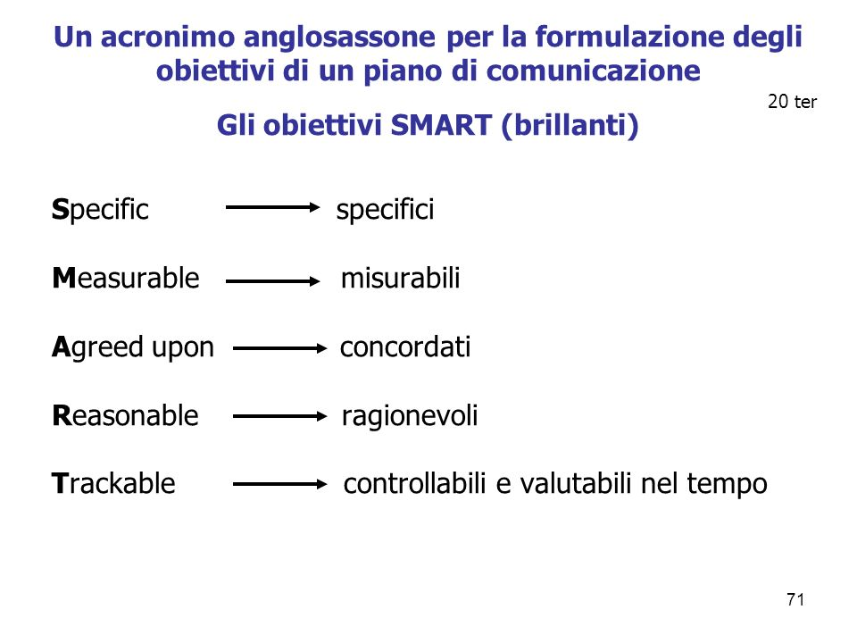 Measurable misurabili Agreed upon concordati Reasonable ragionevoli