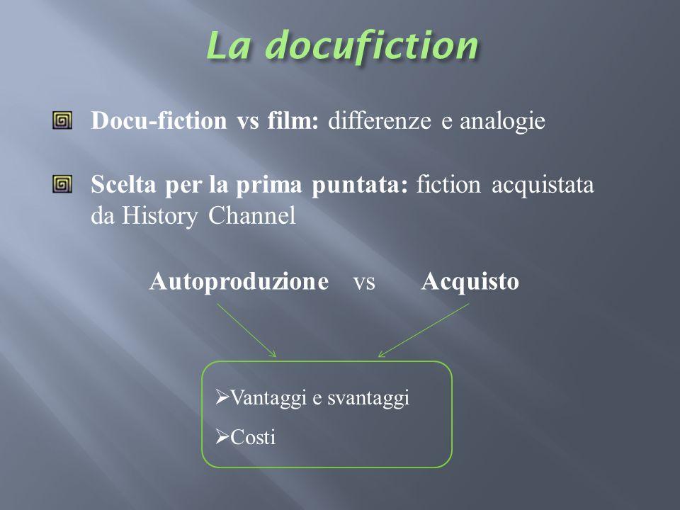 La docufiction Docu-fiction vs film: differenze e analogie