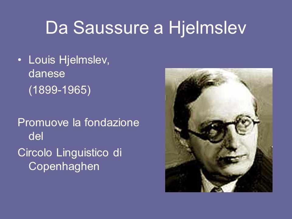 Da Saussure a Hjelmslev