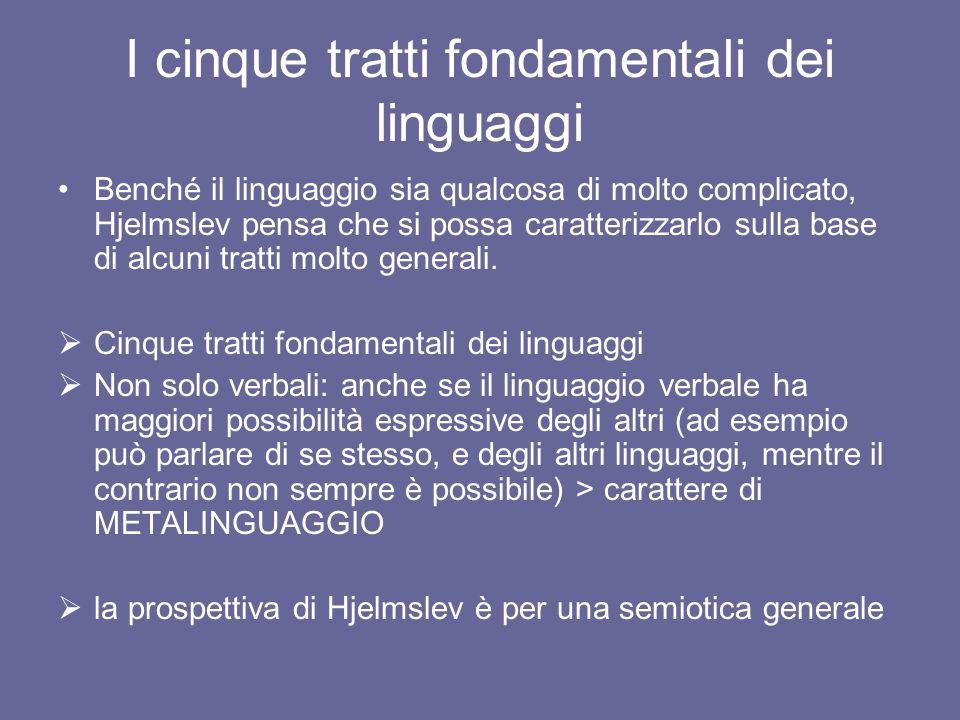 I cinque tratti fondamentali dei linguaggi
