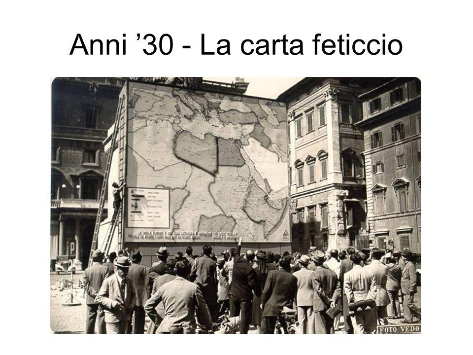 Anni '30 - La carta feticcio