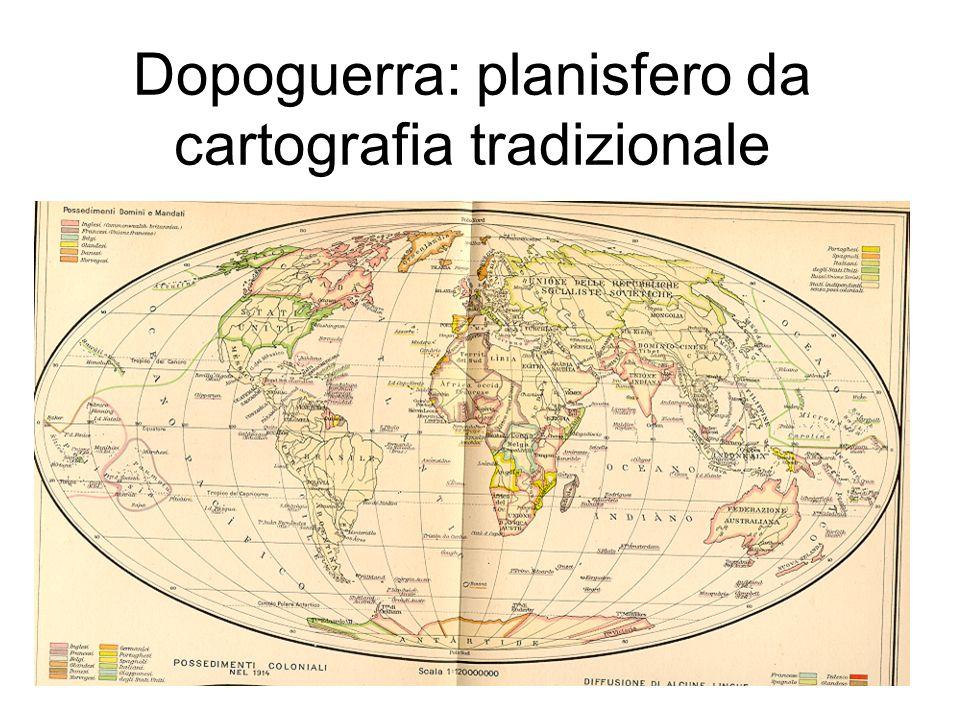 Dopoguerra: planisfero da cartografia tradizionale