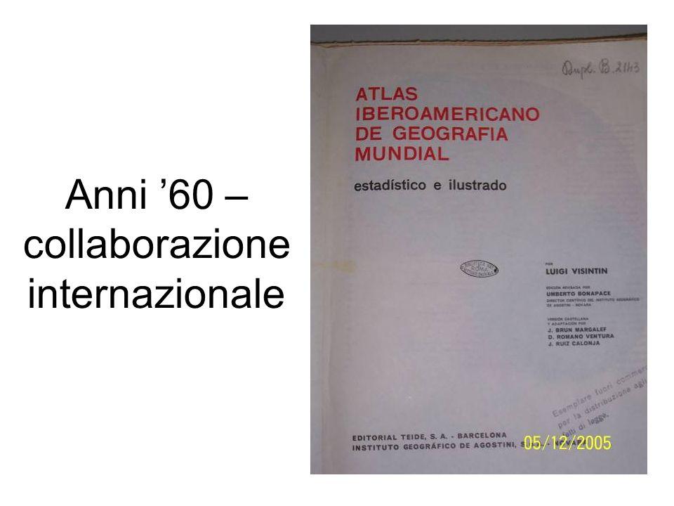 Anni '60 – collaborazione internazionale