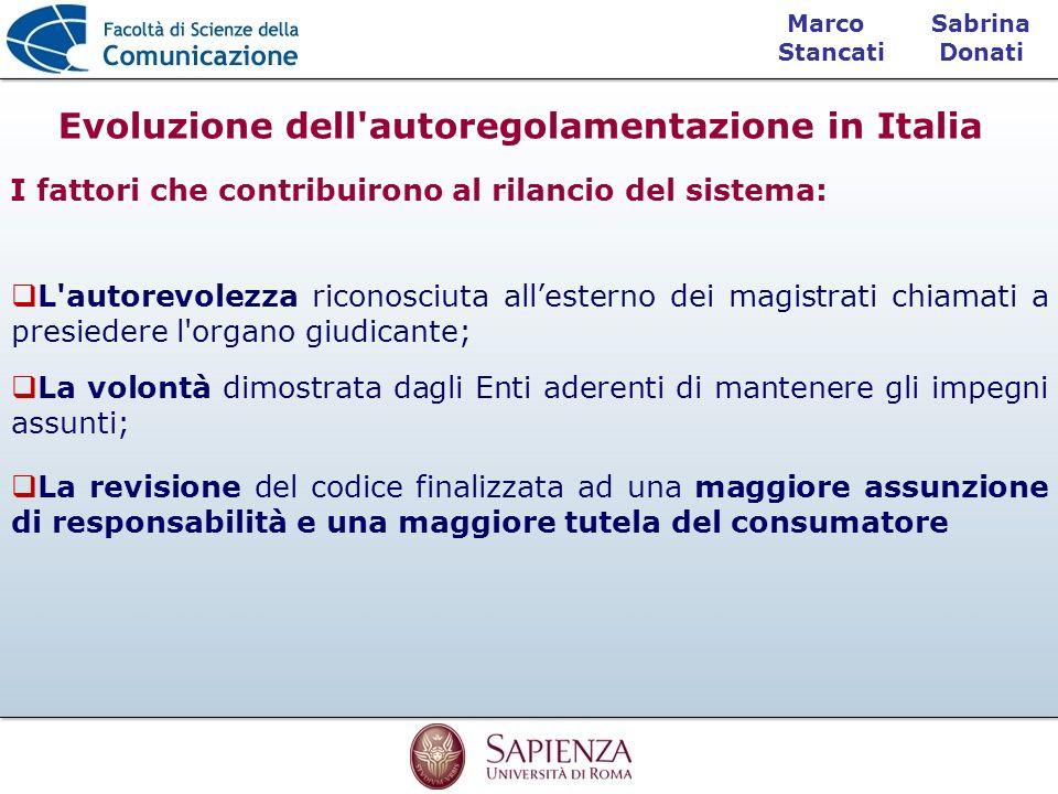 Evoluzione dell autoregolamentazione in Italia