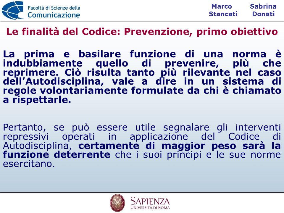Le finalità del Codice: Prevenzione, primo obiettivo