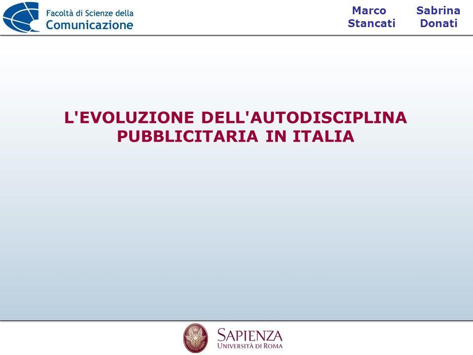 L EVOLUZIONE DELL AUTODISCIPLINA PUBBLICITARIA IN ITALIA