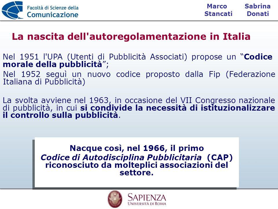 La nascita dell autoregolamentazione in Italia