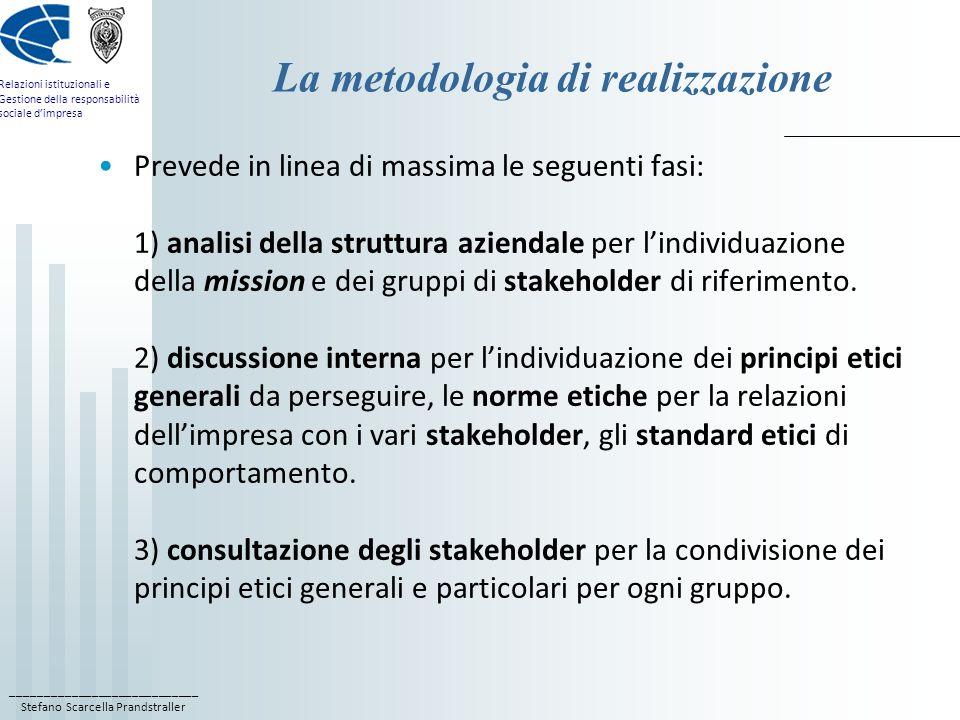 La metodologia di realizzazione