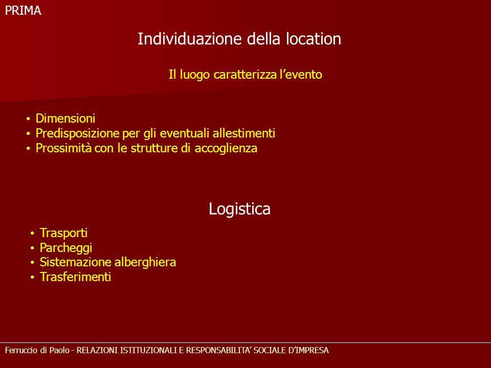 Individuazione della location