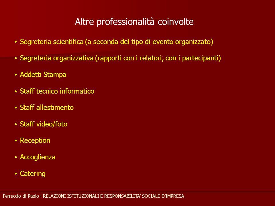 Altre professionalità coinvolte