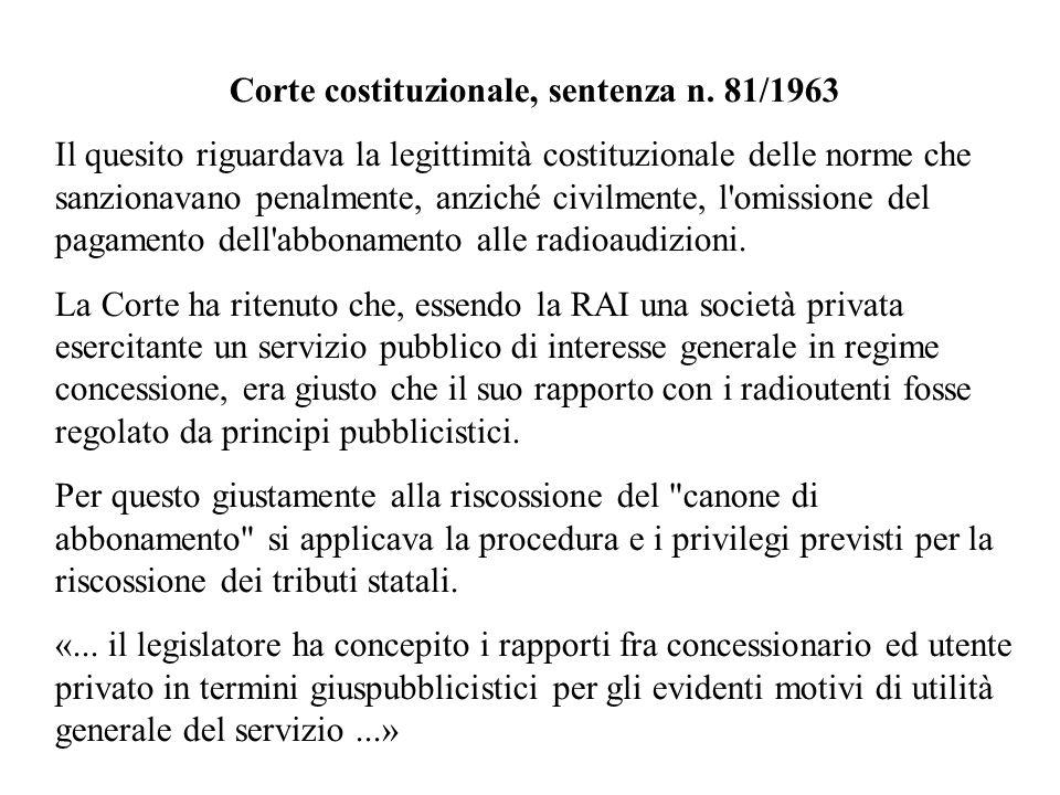 Corte costituzionale, sentenza n. 81/1963