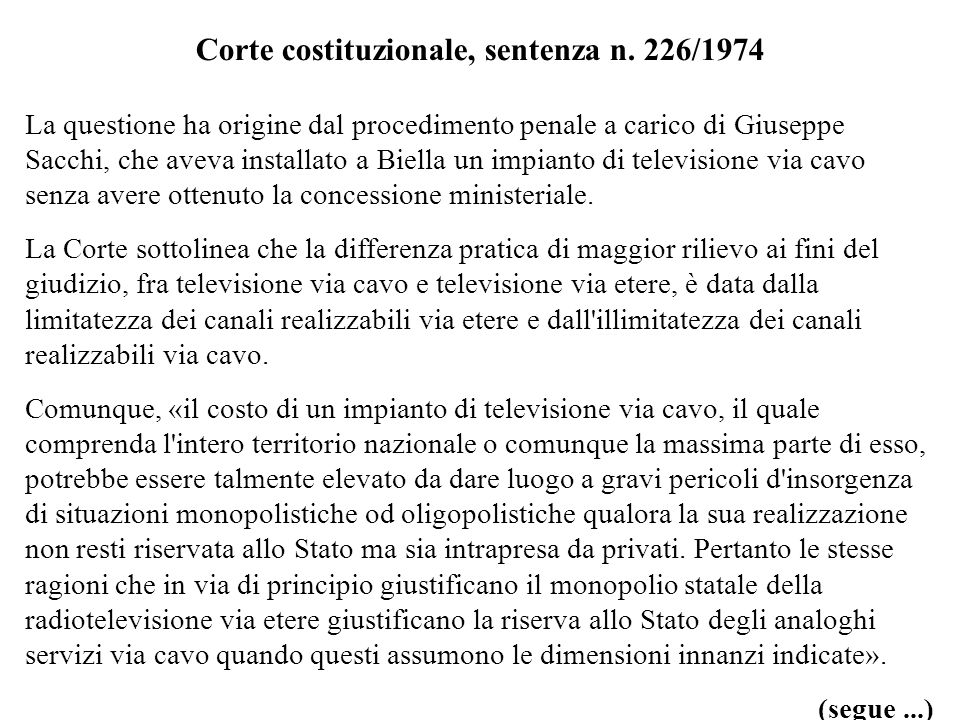 Corte costituzionale, sentenza n. 226/1974