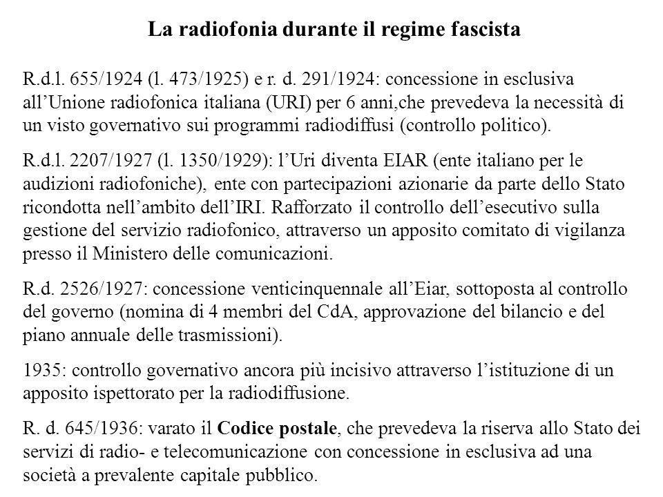 La radiofonia durante il regime fascista