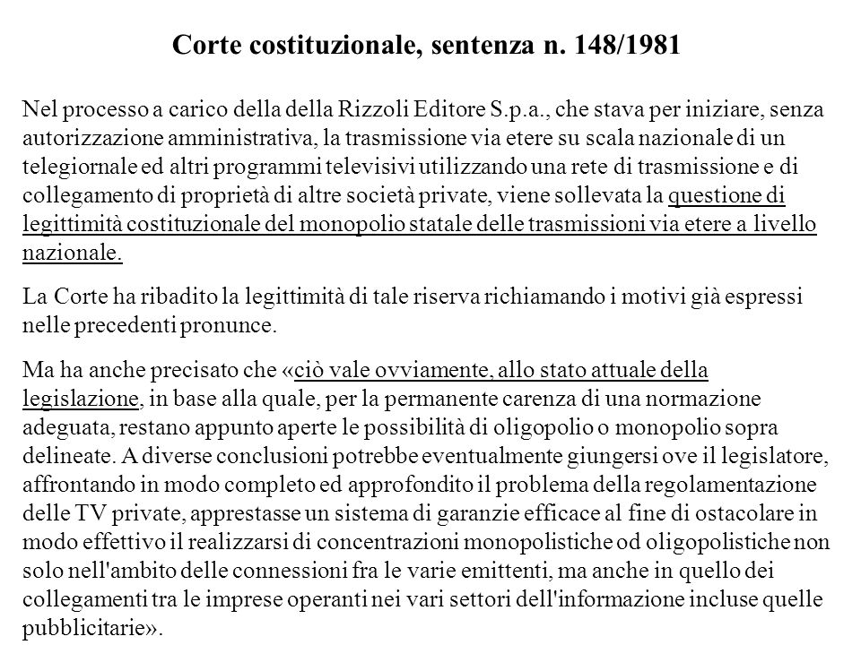 Corte costituzionale, sentenza n. 148/1981