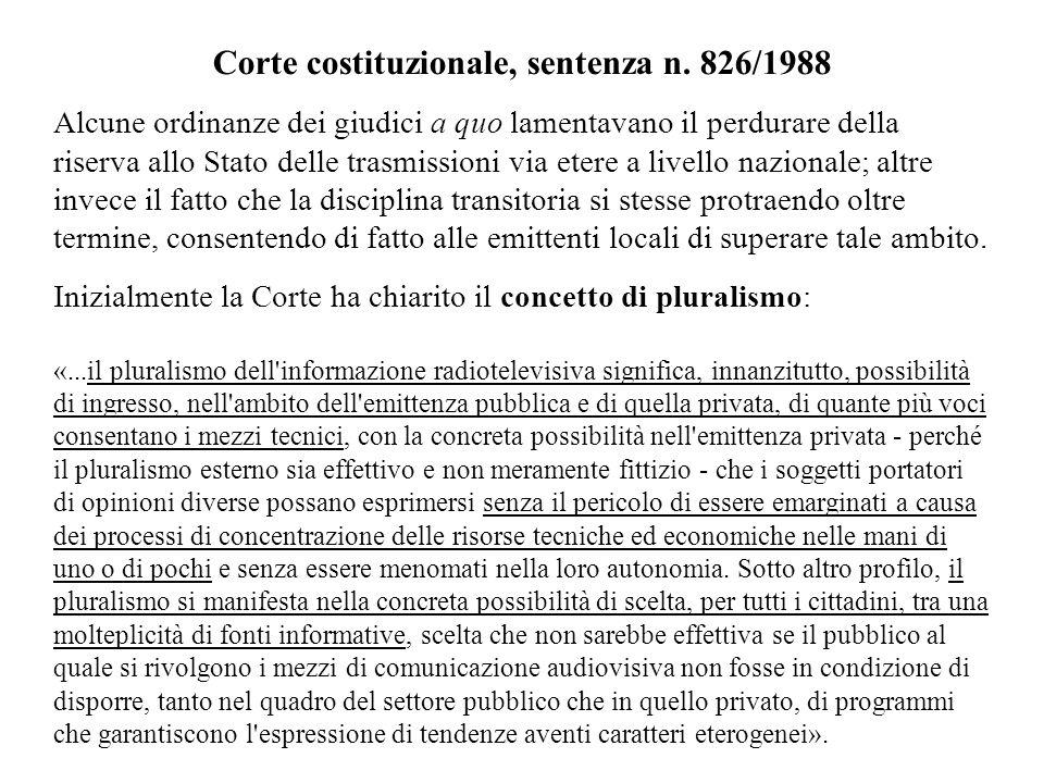 Corte costituzionale, sentenza n. 826/1988