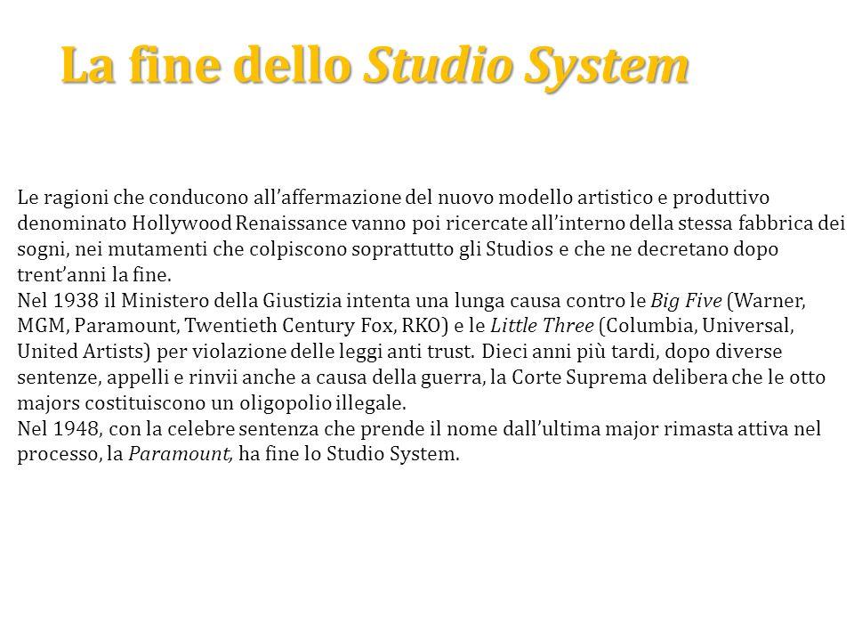 La fine dello Studio System