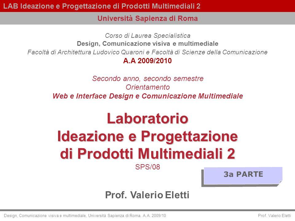 Laboratorio Ideazione e Progettazione di Prodotti Multimediali 2