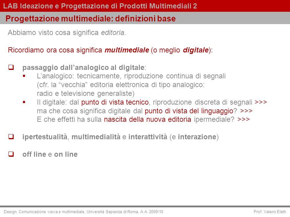 Progettazione multimediale: definizioni base