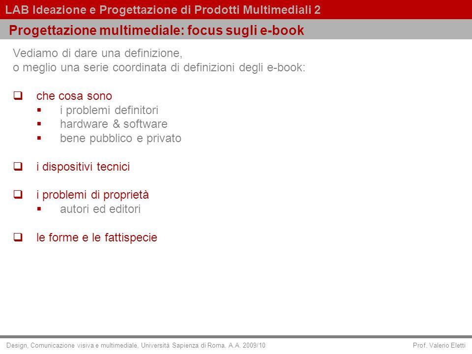 Progettazione multimediale: focus sugli e-book