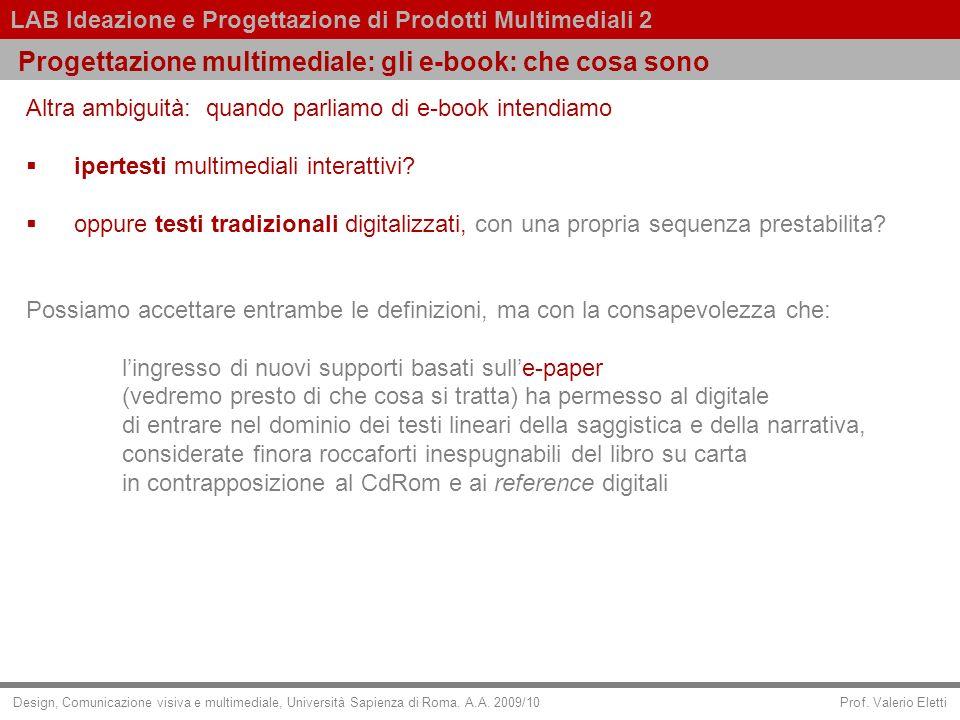 Progettazione multimediale: gli e-book: che cosa sono