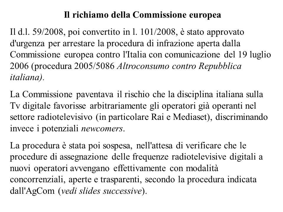 Il richiamo della Commissione europea