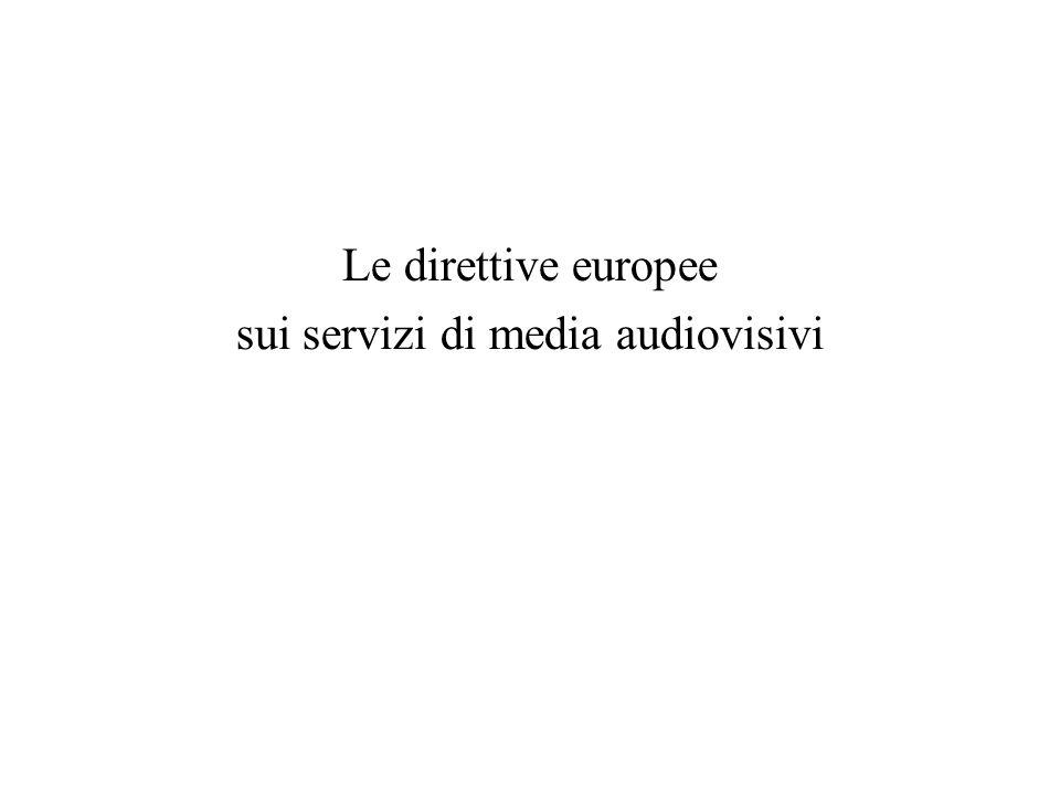 sui servizi di media audiovisivi