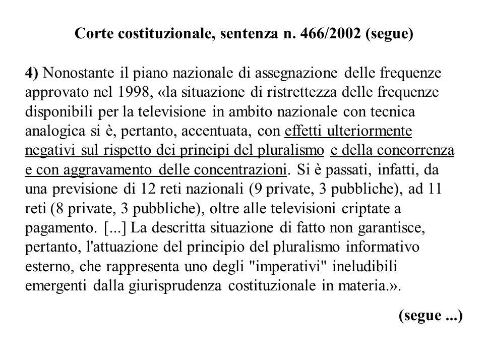 Corte costituzionale, sentenza n. 466/2002 (segue)