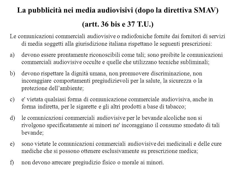 La pubblicità nei media audiovisivi (dopo la direttiva SMAV)
